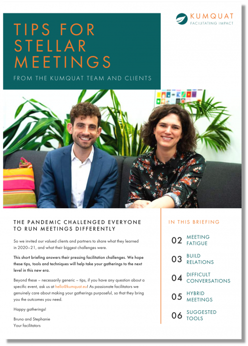 Download our tips for stellar meetings!